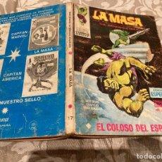 Comics: LA MASA VOL1 Nº17 - EL COLOSO DEL ESPACIO - VERTICE 1972. Lote 237709235