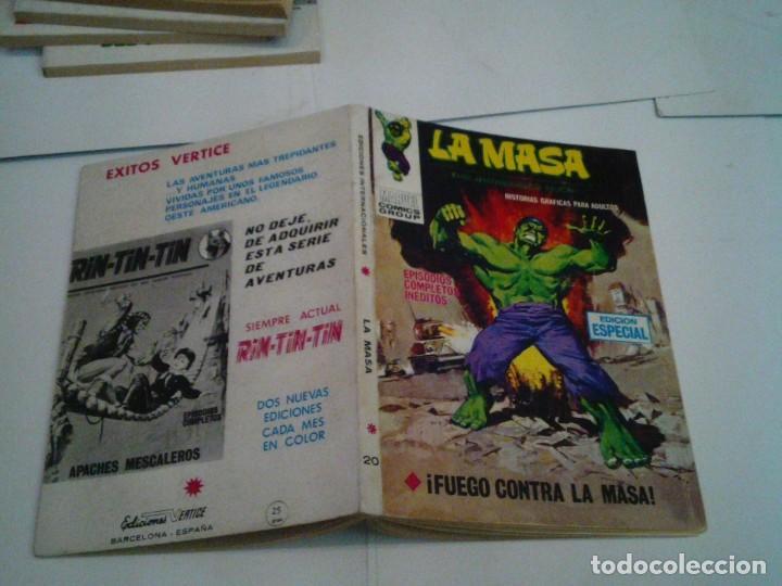 Cómics: LA MASA - VERTICE - VOLUMEN 1 - NUMERO 20 - BUEN ESTADO - GORBAUD - cj 134 - Foto 6 - 238376680
