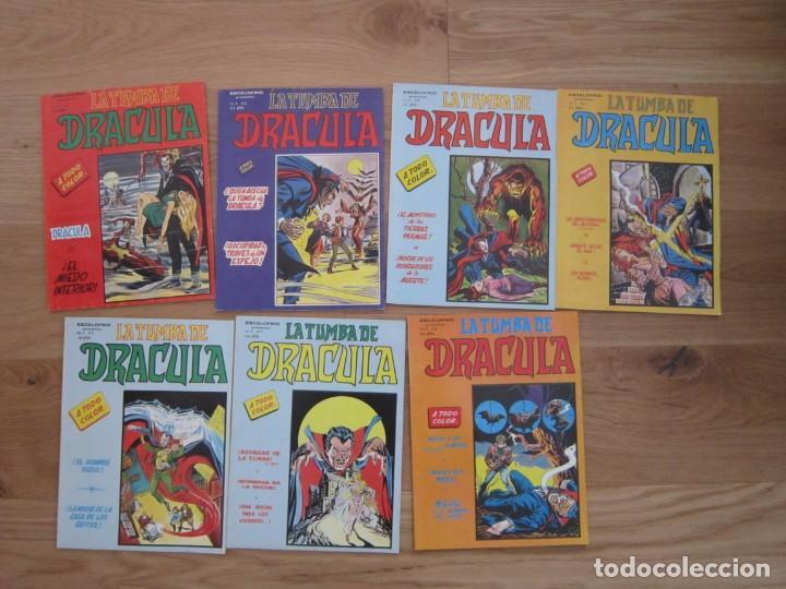 ESCALOFRIO PRESENTA LA TUMBA DE DRACULA COMPLETA 7 EJEMPLARES. VOLUMEN 2. VERTICE 1981-1982 (Tebeos y Comics - Vértice - Otros)