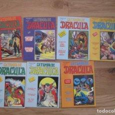 Cómics: ESCALOFRIO PRESENTA LA TUMBA DE DRACULA COMPLETA 7 EJEMPLARES. VOLUMEN 2. VERTICE 1981-1982. Lote 238509180