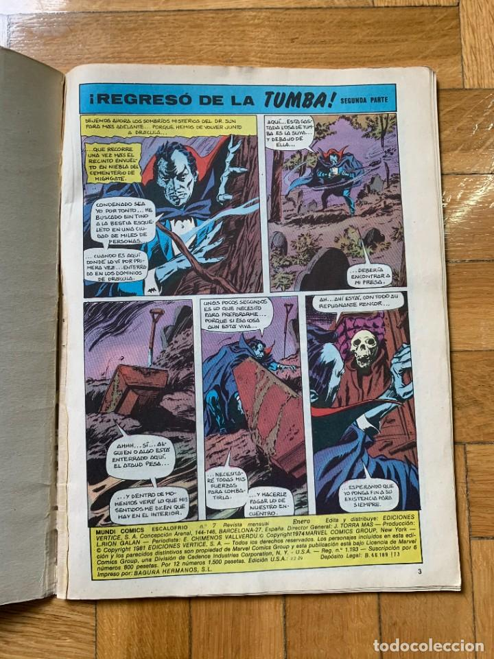 Cómics: Escalofrío vol.2 nº 7: La Tumba de Drácula - D3 - Foto 4 - 238544180