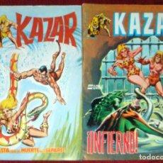 Cómics: 4 KAZAR- Nº 3-5-7-9 COMIC SURCO MUNDI COMIC NUEVO 1983. Lote 238557375