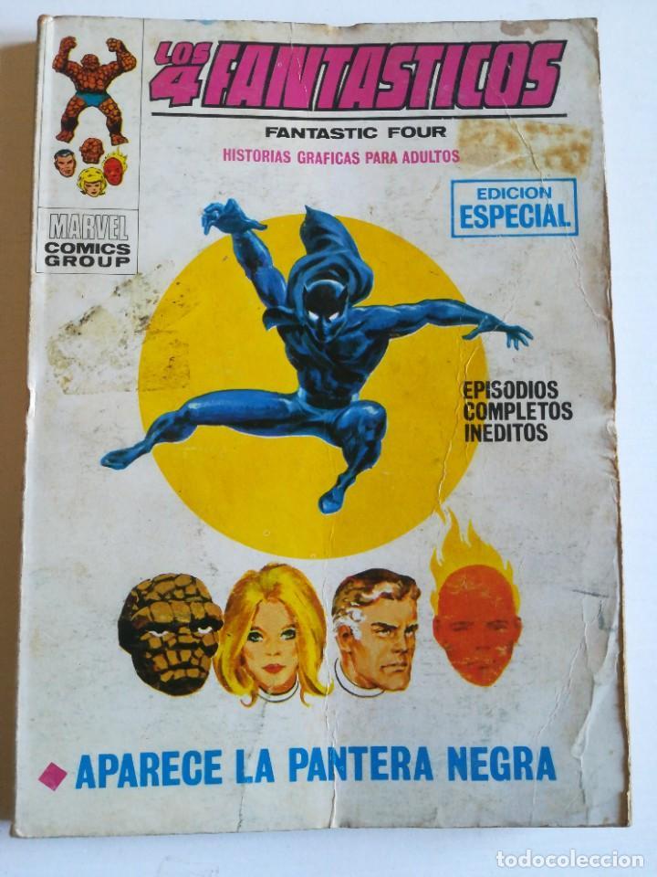 LOS 4 FANTASTICOS 25 APARECE LA PANTERA NEGRA VERTICE MUY DIFÍCIL DE ENCONTRAR (Tebeos y Comics - Vértice - Super Héroes)