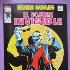 Cómics: RELATOS SALVAJES Nº 31 VERTICE ¡¡¡¡¡ MUY BUEN ESTADO!!!! EL HOMBRE INVISIBLE. Lote 239499025