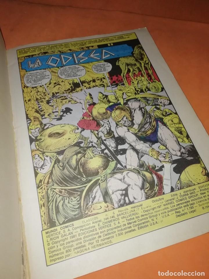 Cómics: LA ODISEA. MUNDI COMICS CLASICOS. EDICIONES VERTICE. - Foto 4 - 241665860