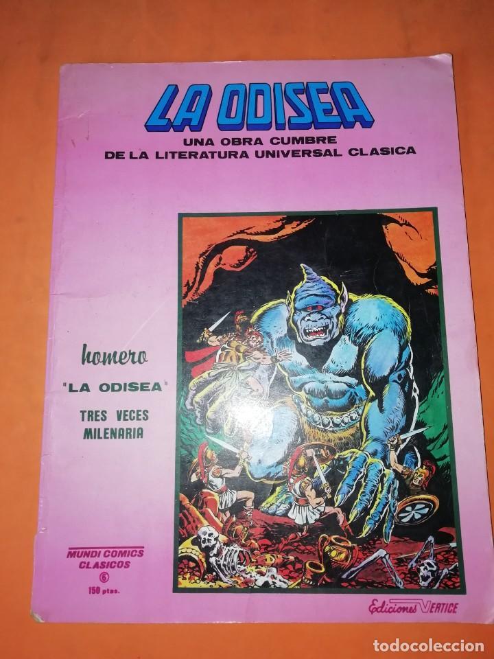 LA ODISEA. MUNDI COMICS CLASICOS. EDICIONES VERTICE. (Tebeos y Comics - Vértice - Otros)