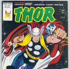Cómics: THOR VOL.2, 53 (STAN LEE, JACK KIRBY) - VÉRTICE, 12/1980 | + RELATOS DE ASGARD. Lote 242014690