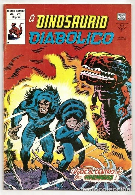 EL DINOSAURIO DIABÓLICO, 3: ¡VIAJE AL CENTRO DE LAS HORMIGAS! (JACK KIRBY) - VÉRTICE, 11/1980 (Tebeos y Comics - Vértice - Grapa)