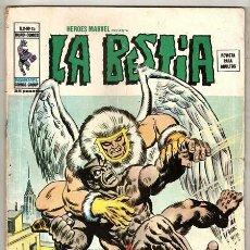 Cómics: LA BESTIA: ASESINATO EN EL AIRE / HÉROES MARVEL VOL.2, 15 - VÉRTICE, 03/1976. Lote 90489284