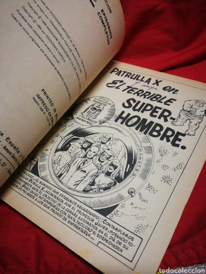 Cómics: PATRULLA X (X-MEN)- EDICIONES VÉRTICE, N°3- CÓMICS GROUP, EDICIÓN ESPECIAL, TACO. 1969 - Foto 3 - 244592650