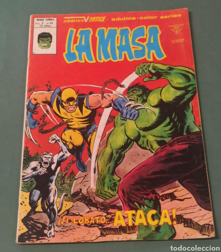 LA MASA VOLUMEN 3 NUMERO 40 VERTICE EL LOBATO ATACA 1980 (Tebeos y Comics - Vértice - La Masa)