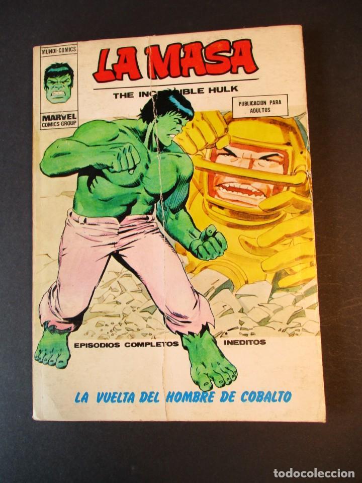 HULK (1970, VERTICE) -LA MASA- 35 · 1974 · LA VUELTA DEL HOMBRE DE COBALTO (Tebeos y Comics - Vértice - La Masa)