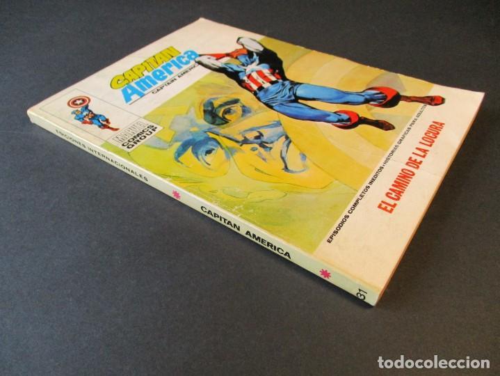 Cómics: CAPITAN AMERICA (1969, VERTICE) 31 · IV-1972 · EL CAMINO DE LA LOCURA - Foto 3 - 244954090