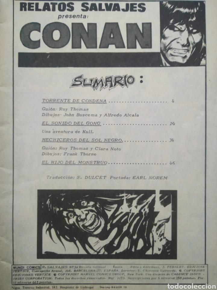 Cómics: Lote Relatos Salvajes: Conan el Bárbaro (Mundi/Vértice, 1976-1978). Vol.1 N°58-67-Vol. 2 N°27. - Foto 2 - 245718775