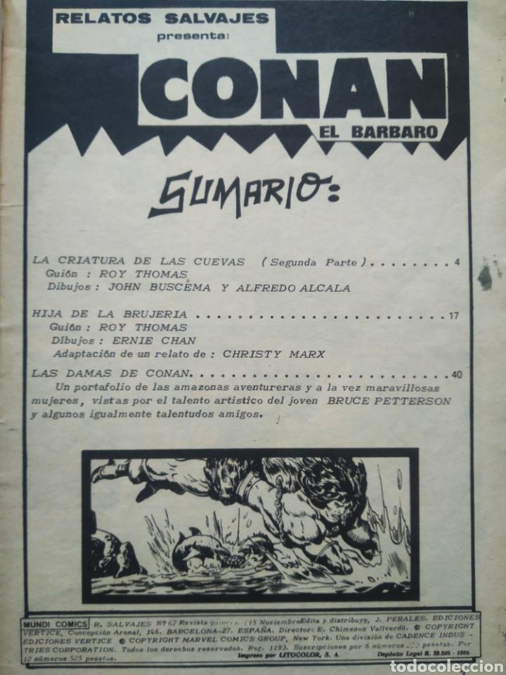 Cómics: Lote Relatos Salvajes: Conan el Bárbaro (Mundi/Vértice, 1976-1978). Vol.1 N°58-67-Vol. 2 N°27. - Foto 3 - 245718775