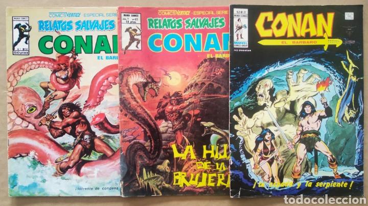 LOTE RELATOS SALVAJES: CONAN EL BÁRBARO (MUNDI/VÉRTICE, 1976-1978). VOL.1 N°58-67-VOL. 2 N°27. (Tebeos y Comics - Vértice - Conan)