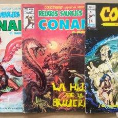 Cómics: LOTE RELATOS SALVAJES: CONAN EL BÁRBARO (MUNDI/VÉRTICE, 1976-1978). VOL.1 N°58-67-VOL. 2 N°27.. Lote 245718775