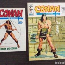 Cómics: CONAN VOLUMEN 1 Y 2 COMPLETA MUY BUEN ESTADOI + THE BARBARIAN ANUAL'80+EXTRA N 1. Lote 245760115