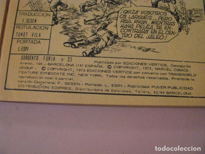 Cómics: SARGENTO FURIA Nº 23. 1973. EL ENAMORADO DE LA GUERRA. MARVEL COMICS GROUP. - Foto 2 - 246172660