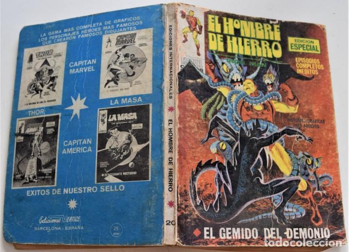 Cómics: EL HOMBRE DE HIERRO Nº 20 - EL GEMIDO DEL DEMONIO - EDICIONES VÉRTICE VOL 1 - AÑO 1969 - Foto 2 - 249007780