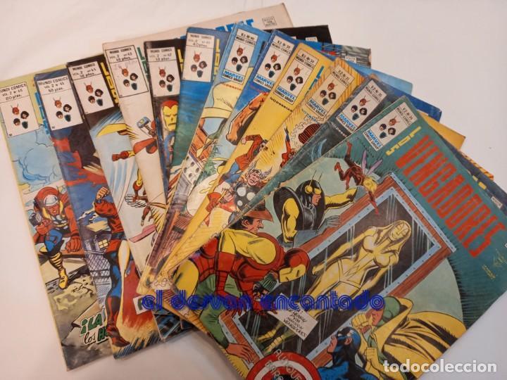 LOS VENGADORES. V.2. LOTE 12 EJEMPLARES ENTRE Nº 34 Y 46. VER FOTOS (Tebeos y Comics - Vértice - V.2)