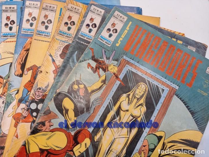 Cómics: LOS VENGADORES. V.2. Lote 12 ejemplares entre nº 34 y 46. VER FOTOS - Foto 3 - 249043965