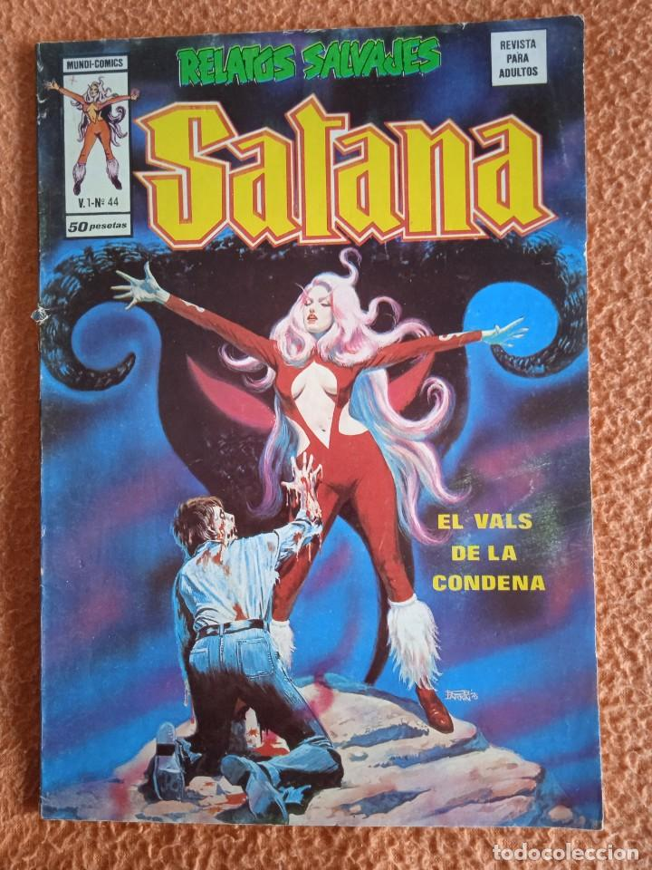 VÉRTICE VOL. 1 RELATOS SALVAJES Nº 44 SATANA. 1977. 50 PTS. MUY DIFÍCIL!!!!!!! (Tebeos y Comics - Vértice - Relatos Salvajes)