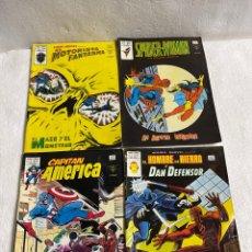 Fumetti: LOTE DE 4 TEBEOS DE SPIDER WOMAN, EL HOMBRE DE HIERRO, EL CAPITÁN AMERICA Y EL MOTORISTA. Lote 251283865