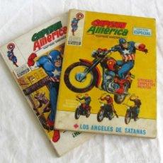 Cómics: 2 COMICS CAPITÁN AMÉRICA, LOS ÁNGELES DE SATANÁS + HÉROE O MISERABLE, VÉRTICE. Lote 251350540