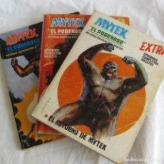 Cómics: 3 COMICS MYTEK EL PODEROSO, GOGRA AL ACECHO, SOMBRAS DE MUERTE, EL RETORNO DE MYTIK, VÉRTICE. Lote 251351005