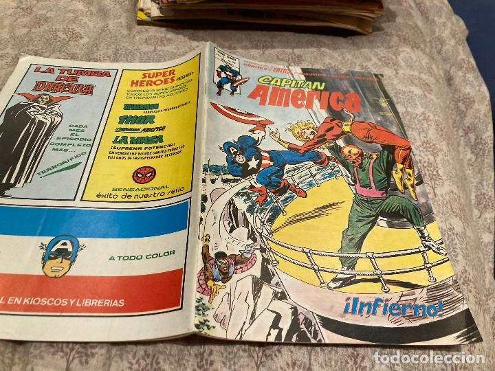 CAPITAN AMERICA VOL3 -Nº42 INFIERNO - MUNDI COMICS ED.VERTICE 1980 (Tebeos y Comics - Vértice - Capitán América)