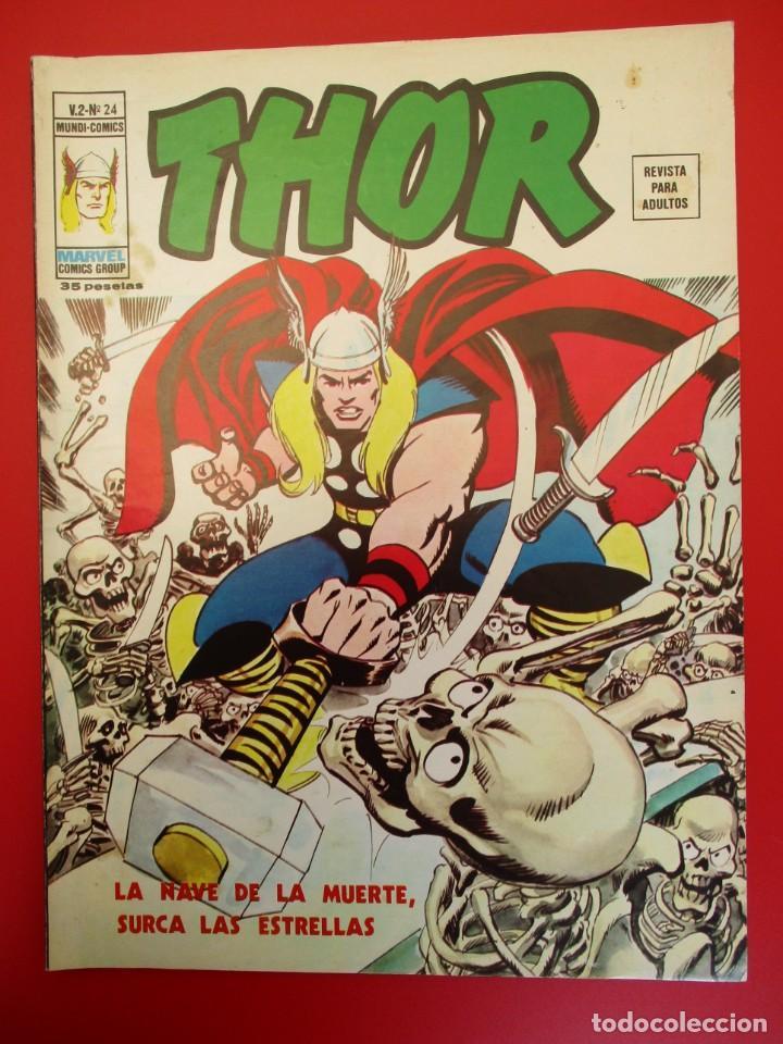 THOR (1974, VERTICE) 24 · IX-1976 · LA NAVE DE LA MUERTE SURCA LAS ESTRELLAS (Tebeos y Comics - Vértice - Thor)