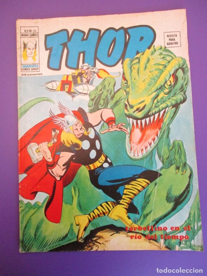 THOR (1974, VERTICE) 25 · X-1976 · TORBELLINO EN EL RIO DEL TIEMPO (Tebeos y Comics - Vértice - Thor)