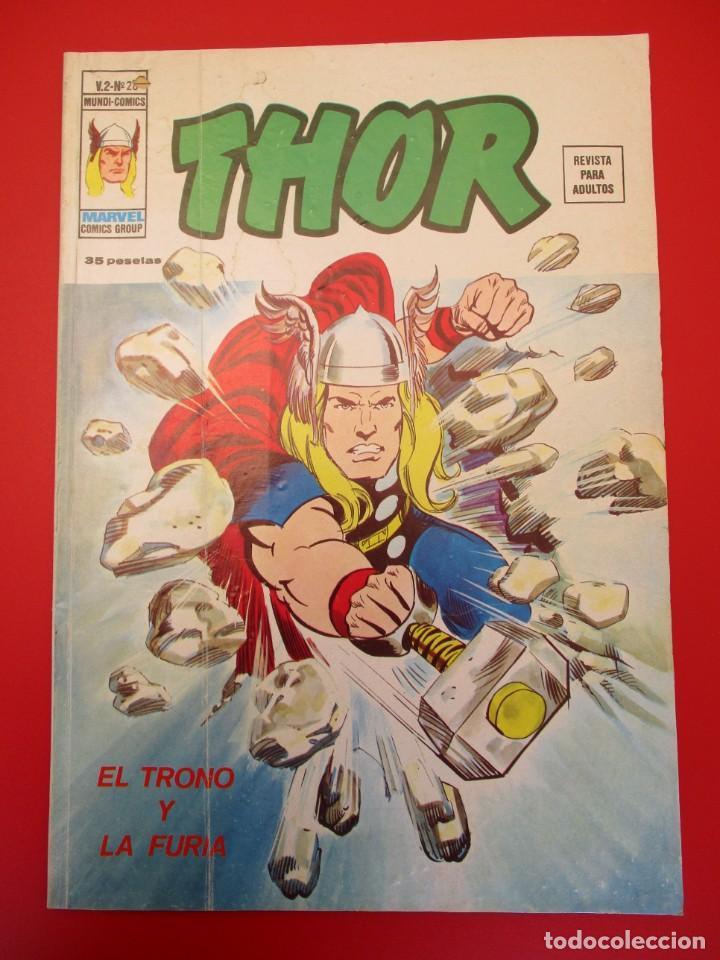 THOR (1974, VERTICE) 28 · I-1977 · EL TRONO Y LA FURIA (Tebeos y Comics - Vértice - Thor)