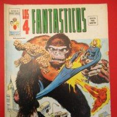 Cómics: 4 FANTASTICOS, LOS (1974, VERTICE) -V.2- 25 · IX-1976 · ¡LA MUERTE ES UN GORILA DORADO!. Lote 252973845