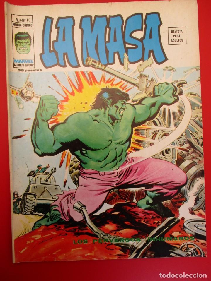 HULK (1975, VERTICE) -LA MASA- 10 · IX-1976 · LOS PERVERSOS INHUMANOS (Tebeos y Comics - Vértice - La Masa)