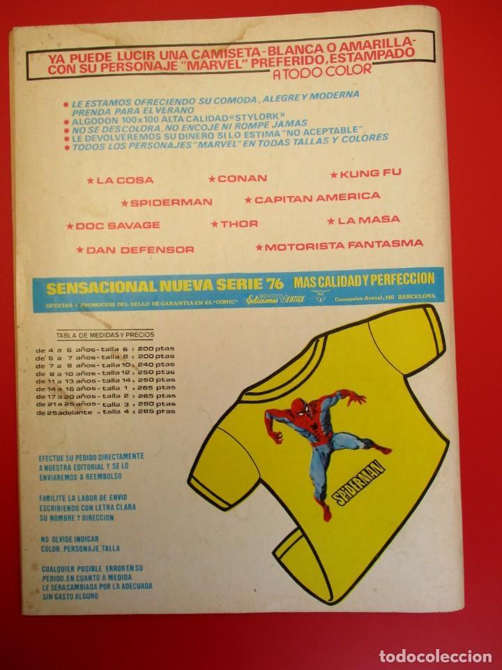 Cómics: HULK (1975, VERTICE) -LA MASA- 10 · IX-1976 · LOS PERVERSOS INHUMANOS - Foto 3 - 252989760