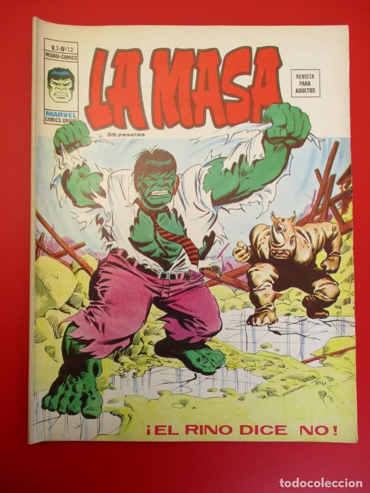 HULK (1975, VERTICE) -LA MASA- 12 · XI-1976 · ¡EL RINO DICE NO! (Tebeos y Comics - Vértice - La Masa)