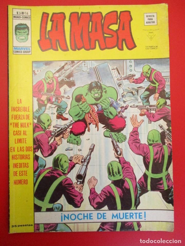 HULK (1975, VERTICE) -LA MASA- 16 · III-1977 · NOCHE DE MUERTE (Tebeos y Comics - Vértice - La Masa)