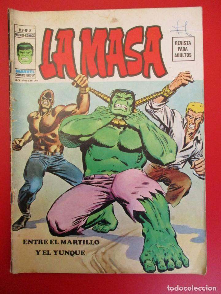 HULK (1974, VERTICE) -LA MASA- 5 · I-1975 · ENTRE EL MARTILLO Y EL YUNQUE (Tebeos y Comics - Vértice - La Masa)