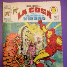 Cómics: SUPER HEROES (1974, VERTICE) 47 · 1976 · LA COSA Y EL HOMBRE DE HIERRO. EL ACECHANTE DE LAS ARENAS. Lote 253000610