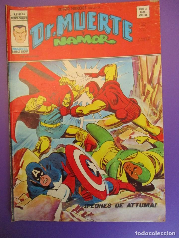 SUPER HEROES (1974, VERTICE) 69 · 1976 · DR. MUERTE Y NAMOR. PEONES DE ATTUMA (Tebeos y Comics - Vértice - Super Héroes)