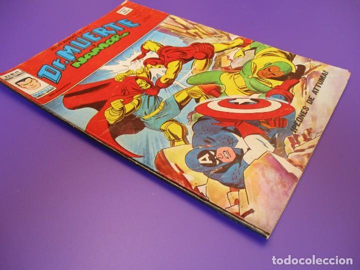 Cómics: SUPER HEROES (1974, VERTICE) 69 · 1976 · DR. MUERTE Y NAMOR. PEONES DE ATTUMA - Foto 2 - 253004095