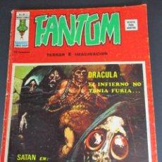 Cómics: FANTOM (1974, VERTICE) -V.2- 21 · X-1975 · DRÁCULA EN EL INFIERNO NO TENÍA FURIA... / SATÁN EN ¡POR. Lote 253428105