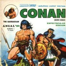 Cómics: ANUAL 80: 1 Y 2 (COMPLETO) MUNDI COMICS (VÉRTICE, 1980). CONAN Y LOS VENGADORES. Lote 253556240