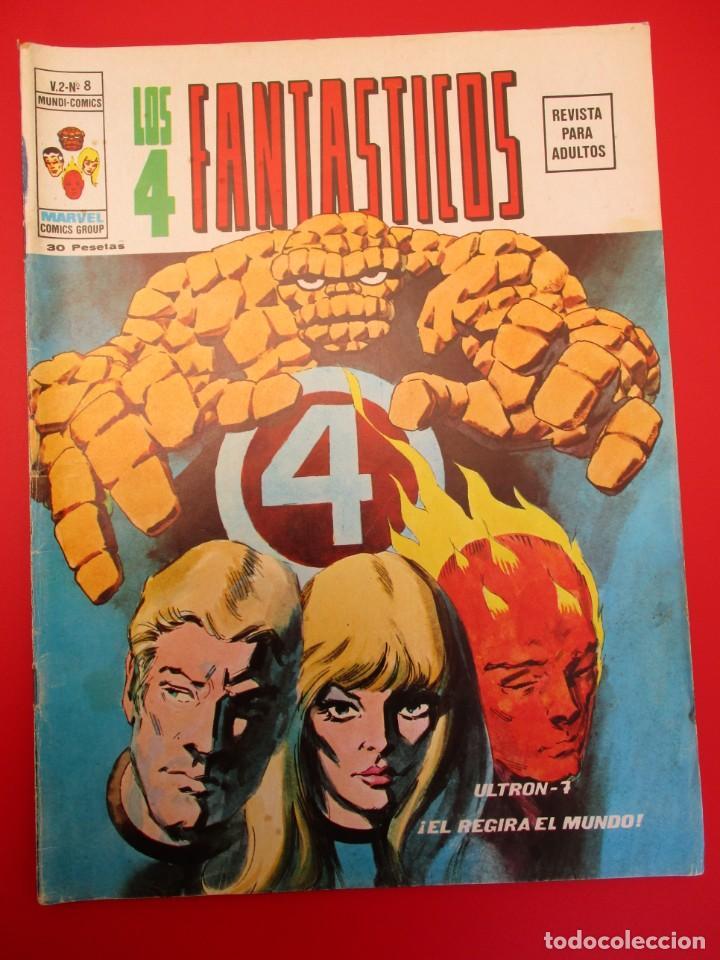 4 FANTASTICOS, LOS (1974, VERTICE) -V.2- 8 · II-1975 · ULTRON-1 (Tebeos y Comics - Vértice - 4 Fantásticos)