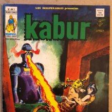 Cómics: LOS INSUPERABLES PRESENTAN: KABUR VOL.1 N°3 (EDICIONES VÉRTICE 1978). ¡¡...MOLOC!!. Lote 171717574