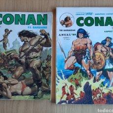 Cómics: CONAN EL BÁRBARO. MUNDI COMICS EXTRA 1 1980 + VÉRTICE ANUAL 80. Lote 254971365
