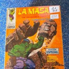 Cómics: VERTICE VOLUMEN 1 LA MASA NUMERO 21 BUEN ESTADO. Lote 255390140