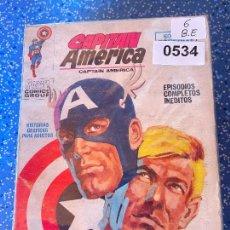 Cómics: VERTICE VOLUMEN 1 CAPITAN AMERICA NUMERO 6 BUEN ESTADO. Lote 255507865